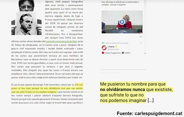 Porque Puigdemont no regresa: me pusieron tu nombre para que no olvidáramos nunca